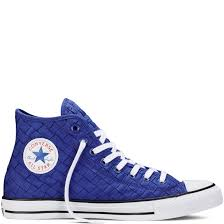 converse shoes blue and black. converse chuck taylor all star woven high top shoes womens clematis blue/ black/white blue and black