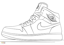 Coloring Pages Coloring Jordan Shoes Scbu Nike Sneakers Page Free