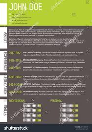 Modern Curriculum Vitae Cv Resume Template Stock Vector 321394529