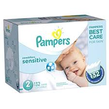 pampers swaddlers size 2 132 count amazon com pampers swaddlers sensitive disposable diapers size 2