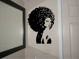 sun wall decal trendy designs: beautiful afro chic women housewares wall decal afro decal sticker