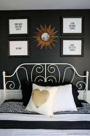 attach bright white moulding to your bedroom wall to another dimension to the room use two diffe paint colors on either side of the molding for a