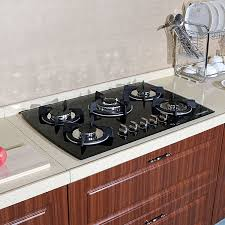 gas stove top cabinet. Interesting Gas Glass Built In Kitchen 5 Burner Oven Gas Cooktops Stainless Steel Iron  Ceramic Tile Backsplash White Plate Soup Bowl High Glos Cabinets Dish Rack Chrome Throughout Stove Top Cabinet