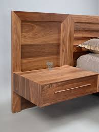 built bedroom furniture moduluxe. Custom Built Moduluxe Queen Bed \u0026 Nightstands Shown In Solid Walnut Wood With Natural Finish Bedroom Furniture R
