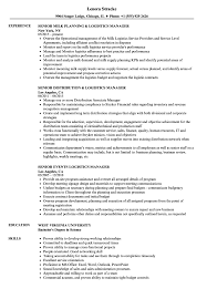 Logistics Management Resume Manager Senior Logistics Resume Samples Velvet Jobs