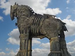 on april 24 1479 b c e the trojans learned they should beware of greeks bearing gifts especially when they come in the form of large wooden horses