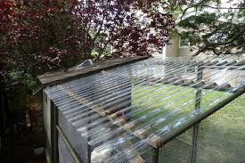 the insulated detachable en backyard ens clear corrugated polycarbonate roofing panels were used to cover run provide sunlight while shield