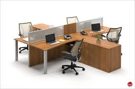 office supplies for cubicles. Picture Of Milo Cluster 4 Person Cubicle Office Desk Workstation Supplies For Cubicles