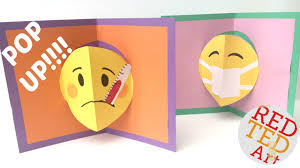 easy pop up card how to emojis get well soon
