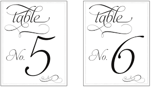 Printable Table Number Templates Vastuuonminun Gold Table