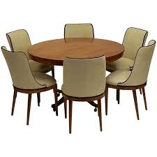 dining room furniture sets art deco dining table and six chairs