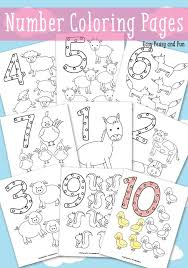 Worksheets, flash cards, coloring pages suitable for toddlers, preschool and kindergarten to help children learn numerals and early math concepts. Animals Number Coloring Pages Easy Peasy And Fun