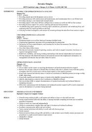 Operations Data Analyst Resume Samples Velvet Jobs