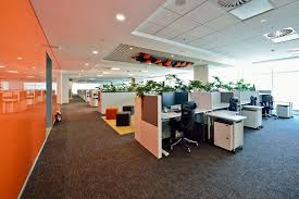 software company office. THE VMWARE OFFICE IN BENGALURU TACTFULLY EMBRACES SUSTAINABLE FEATURES WITH VIBRANT COLOURS AND A REFINED LAYOUT. Software Company Office