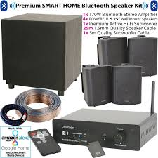 premium bluetooth wall speaker subwoofer kit wireless hifi amplifier system