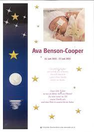 Trauerkerzen und Blumen für Ava Benson-Cooper online anzünden und pflücken
