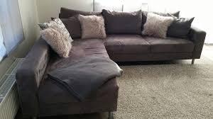 Sofa Grau Wohnlandschaft Groß Kissen