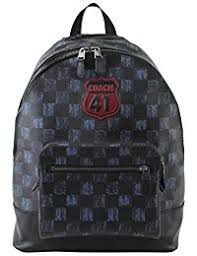 Men s Backpack With Graphic Checker Print And Coach 41 Motif, Style F23249