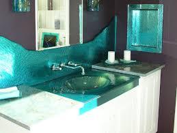 warm glass vessel sink ocean green