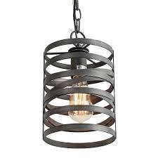 lnc 1 light dark gray mini cylinder pendant