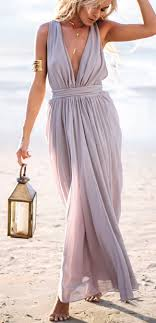 Elegant Maxi Dress For Beach Wedding