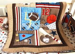 Sports Quilts Patterns – co-nnect.me & ... Sports Themed Quilts Patterns New 7pcs Baby Bedding Set Baseball Baby  Boy Sports Crib Bedding Sets ... Adamdwight.com