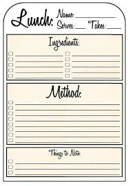 Printable Recipe Pages Sinma Carpentersdaughter Co