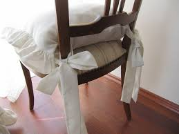 image of dining chair cushions with ties style