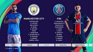pes 2021 | Manchester city vs PSG | PC Gameplay | Full Match | Neymar,  Mbappe, Dybala
