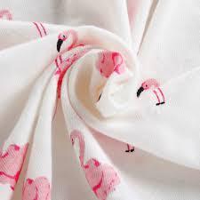 pink flamingo cute baby bedding nursery set