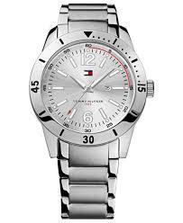 tommy hilfiger watch men s silver tone bracelet 42mm 1790865 tommy hilfiger watch men s silver tone bracelet 42mm 1790865