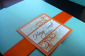 orange and turquoise wedding invitations. wedding invitations (blue + orange) | by jonathan vo orange and turquoise (
