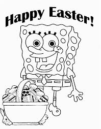 Pin By Coloring Fun On Sponge Bob Easter Coloring Pages Easter