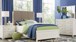 green bedroom furniture. Barringer Place White 6 Pc King Upholstered Bedroom Green Furniture