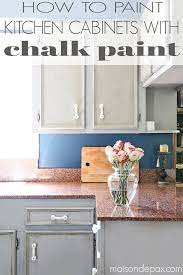 how to paint a kitchen with chalk paint