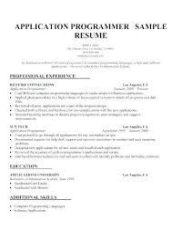 Sample Computer Programmer Resume 10 Computer Programmer Resume 1mundoreal