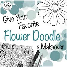 the simple flower doodle makeover we