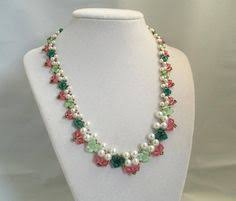 Free Beading Patterns To Download Beauteous Free Pattern For Necklace Levant Free Beading Patterns Pinterest