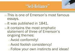 the american spirit  27 this is one of emerson s most famous essays