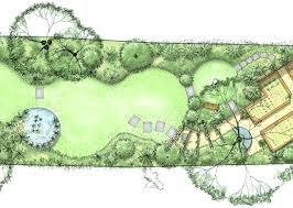 garden design plans. Garden Design Plans Pictures Long Narrow Plan With A Series Of Circular Lawns