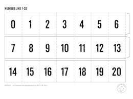 number templates 1 10 printable number line mr printables