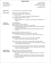 Occupational Therapy Resume Template Enchanting Occupational Therapy Resume Template Viawebco