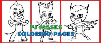 Free Pdf Download Of Pj Masks Coloring Pages Catboy Gekko And