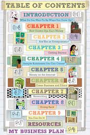 Kidpreneurs table of contentspng