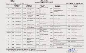 rgpv time table be btech bpharma time table rgpv st nd rd  rgpv be time table 4th sem exam time table for all branches grading 2015