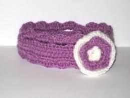 Purple Baby Headband Crochet Pattern