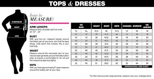 Plus Size Clothing Size Chart Radiosansuena Plus Size Attire New Orleans