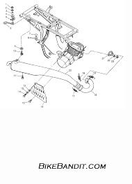 1997 polaris 250 trail boss w97aa25c exhaust trail boss w97aa25c rh bikebandit polaris plow parts breakdown polaris scrambler 500 wiring diagram