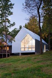 Concrete Cabin Foley Ridge Cabin Is Conceived As A Galvanized Steel Monolith
