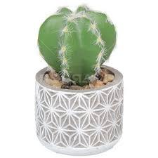 Цветок искусственный <b>декоративный</b> Кактус в <b>горшке</b> Y6-2066 ...